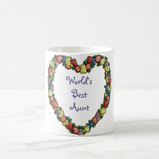 Personalized, Customized Heart Border Design Basic White Mug