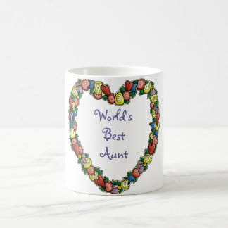 Personalized, Customized Heart Border Design Coffee Mug