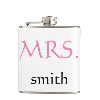 Personalized customized Mrs. Wedding Bride Hip Flask