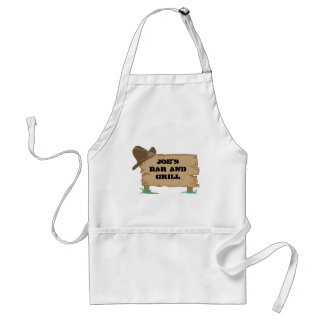 Personalized, Customized Western Sign Aprons