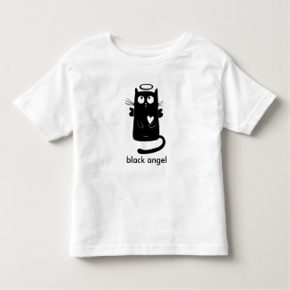 Personalized Cute Angel Black Cat Tees