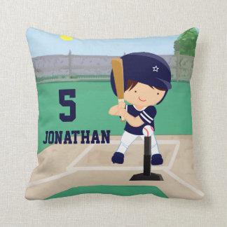Personalized Cute Baseball cartoon player Cushion