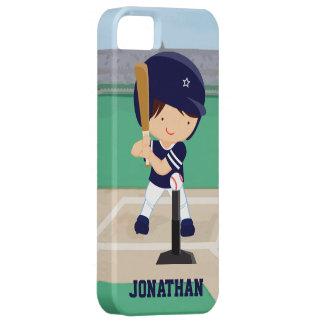 Personalized Cute Baseball cartoon player iPhone 5 Case