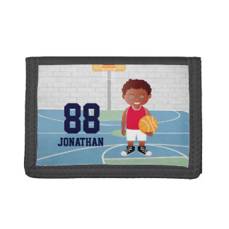 Personalized Cute basketball Tri-fold Wallet