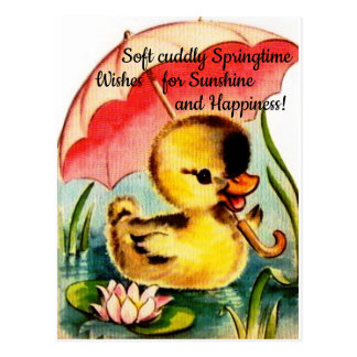 Personalized Cute Chic Spring Postcard