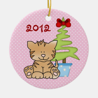 Personalized Cute Christmas Cat Ornament