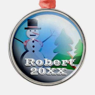 Personalized Cute Christmas Snow Globe Ornament