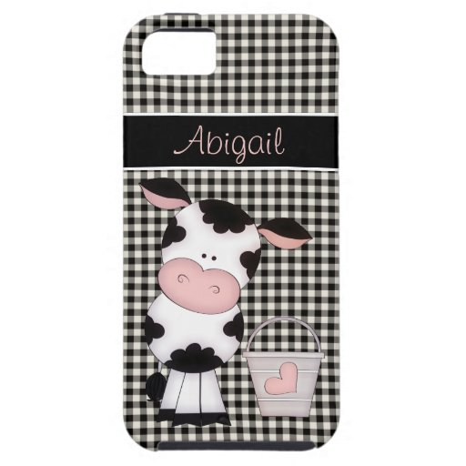 Personalized Cute Cow iPhone 5 Case