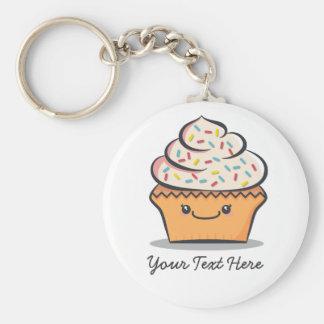 Personalized Cute Cupcake Keychain