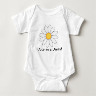 Personalized Cute Daisy Baby Bodysuit
