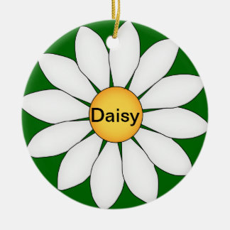 Personalized Cute Daisy Christmas Ornament