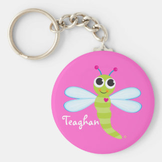 Personalized Cute Dragonfly Keychain - Personalize