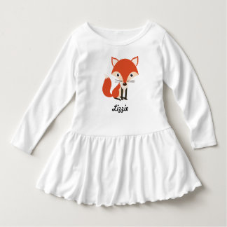 Personalized Cute Fox & Leaves Autumn Dress