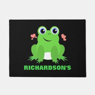 Personalized Cute Frog Doormat