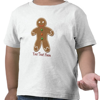 Personalized Cute Holiday Gingerbread Man Tee Shirt