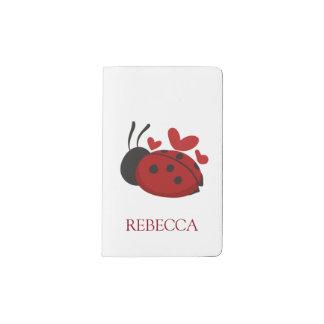 personalized cute ladybug pocket moleskine notebook