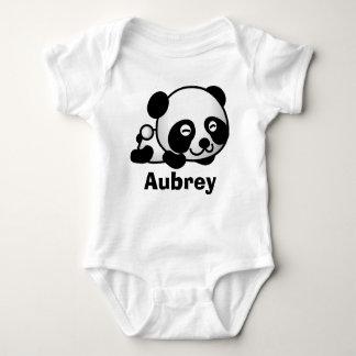 Personalized cute Little baby panda bear Baby Bodysuit