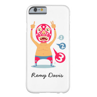 Personalized Cute Mexican Wrestler Illustration Barely There iPhone 6 Case