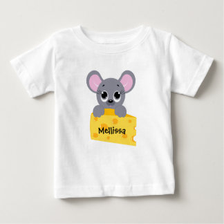 Personalized Cute Mouse with Cheese Shirt