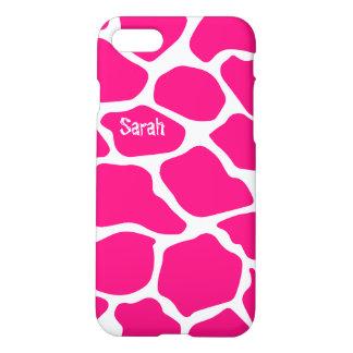 Personalized Cute Pink Giraffe Pattern iPhone 5 iPhone 7 Case