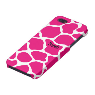 Personalized Cute Pink Giraffe Pattern iPhone 5 iPhone 5 Covers