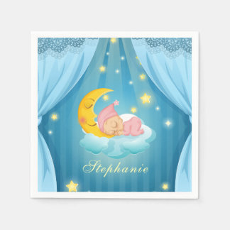Personalized Cute Sleeping Baby | Napkin Disposable Serviette