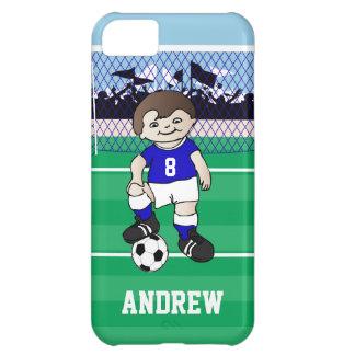 Personalized cute soccer boy iPhone 5C case