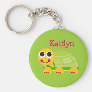 Personalized Cute Turtle Keychain for kids