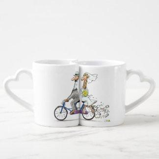 personalized cute wedding couple - giraffes lovers mug