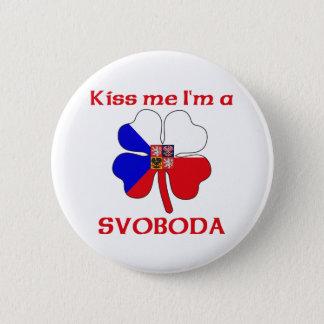 Personalized Czech Kiss Me I'm Svoboda 6 Cm Round Badge