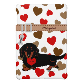 Personalized Dachshund Long Haired Black and Tan Case For The iPad Mini