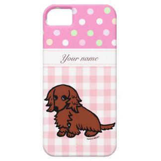 Personalized Dachshund Red Long Haired Barely There iPhone 5 Case