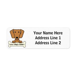 Personalized Dachshund Return Address Label