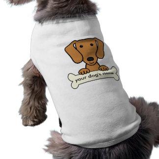 Personalized Dachshund Sleeveless Dog Shirt