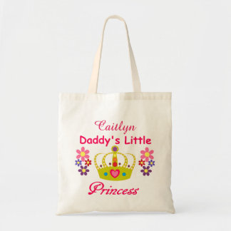 Personalized Daddy's Little Princess Budget Tote Budget Tote Bag