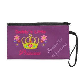 Personalized Daddy's Little Princess Wristlet