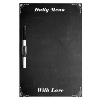 Personalized Daily Menu Blackboard Chalk Kitchen