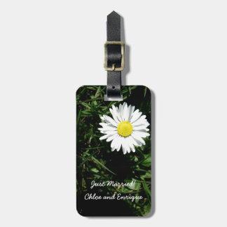 Personalized Daisy Honeymoon Suitcase Tag