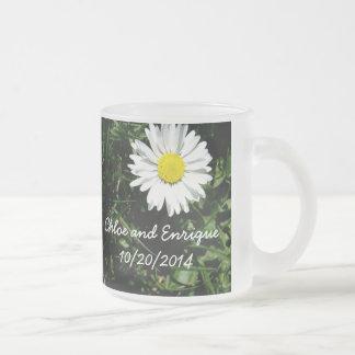 Personalized Daisy Wedding Coffee Mugs