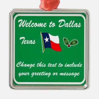 Personalized Dallas TX Christmas Ornament