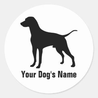 Personalized Dalmatian ダルメシアン Round Sticker