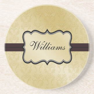 Personalized Damask coasters