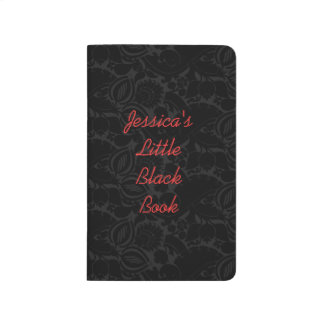 Personalized Damask Little Black Book
