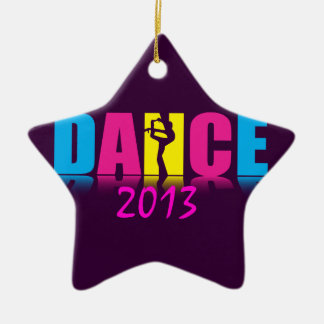 Personalized Dance Dancer Ceramic Star Decoration