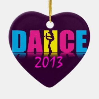Personalized Dance Dancer Ceramic Heart Decoration