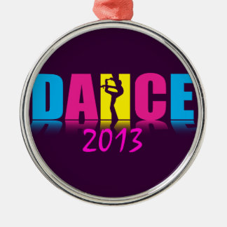 Personalized Dance Dancer Silver-Colored Round Decoration