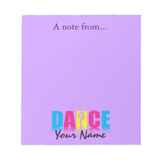 Personalized Dance Dancer Notepad