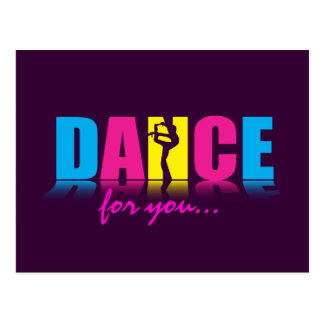 Personalized Dance Dancer Postcard