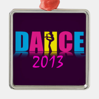 Personalized Dance Dancer Silver-Colored Square Decoration