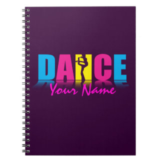 Personalized Dance Dancer Spiral Notebook